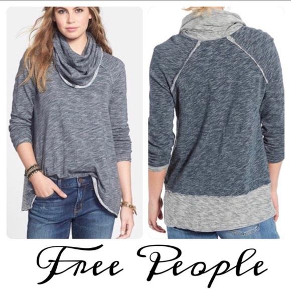 53e10f9289 Free People Sweaters | Fp Beach Cowl Neck Tunic Sweater | Poshmark